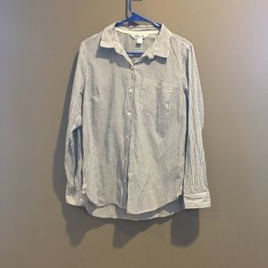 Old Navy Blueish Gray Pinstripe The Classic Shirt